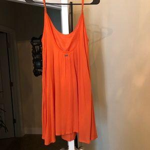 Roxy orange shift dress